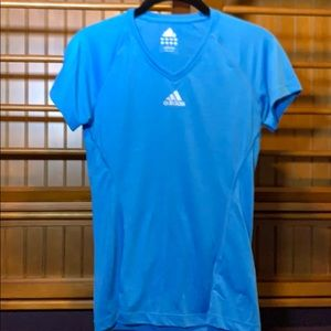 Adidas blue short sleeve top, Size S